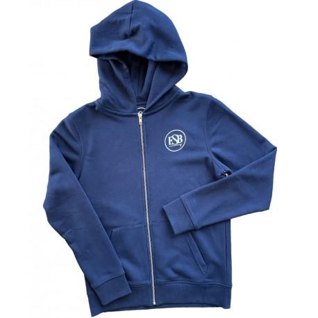 ESB Sweat Zip Bleu